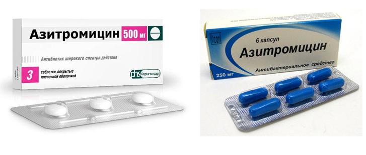 Форма выпуска азитромицина