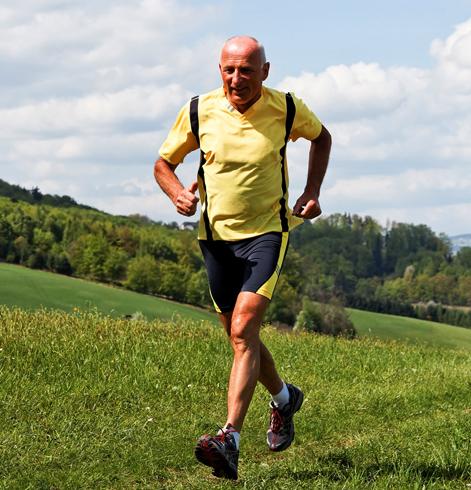 Мужчина бежит