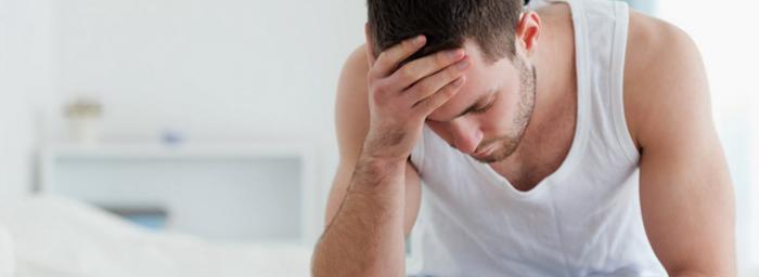 У мужчины симптомы простатита
