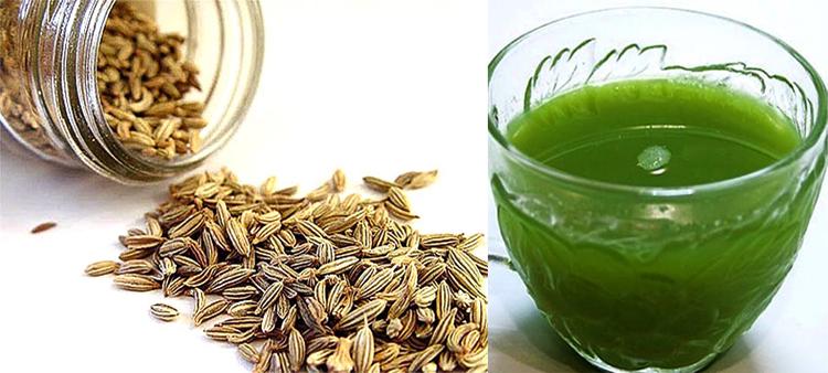 Сок и семена петрушки